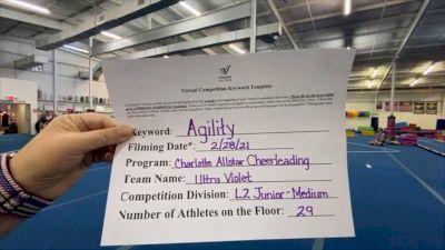 Charlotte Allstar Cheerleading - Ultra Violet [L2 Junior - Medium] 2021 Varsity All Star Winter Virtual Competition Series: Event III