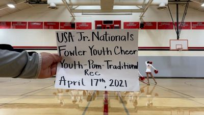 Fowler Youth Cheer [Youth - Pom - Traditional Rec] 2021 USA Spirit & Dance Virtual National Championships