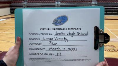 Jenks High School [Virtual Large Varsity - Pom Semi Finals] 2021 UDA National Dance Team Championship