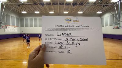 St Marks School [Large Junior High] 2020 UCA Louisiana Virtual Regional