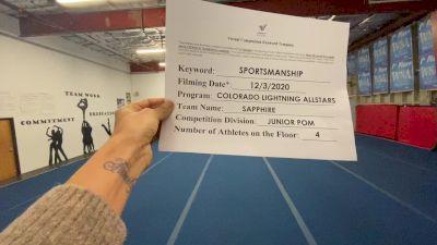 Colorado Lightning Athletics - Sapphire [All Star Junior - Pom] Varsity All Star Virtual Competition Series: Event VI