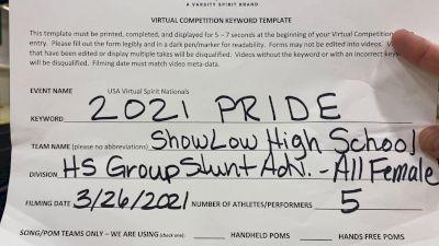 Show Low High School [HS Group Stunt Advanced - All Female Finals] 2021 USA Spirit & Dance Virtual National Championships