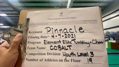 Element Elite Tumbling & Cheer - Cobalt [L3 Youth - D2] 2021 The Regional Summit Virtual Championships