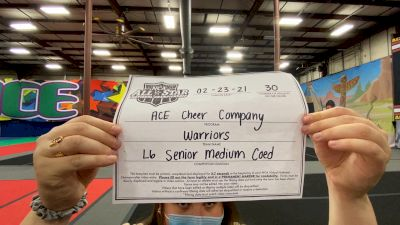 ACE Cheer Company - Warriors [L6 Senior Coed - Medium] 2021 NCA All-Star Virtual National Championship