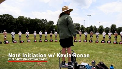 2021 Carolina Crown Brass: Note Initiation Exercise with Kevin Ronan