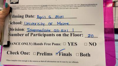 University of Maine - Orono [Virtual Intermediate All Girl Division I Finals] 2021 NCA & NDA Collegiate Cheer & Dance Championship