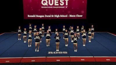 Ronald Reagan Doral Sr High School - Bison Cheer [2021 L3.1 Performance Rec - 18Y (NON) - Large Finals] 2021 The Quest