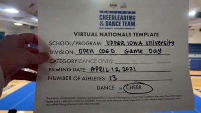 Upper Iowa University [Virtual Open Coed Game Day - Cheer Semi Finals] 2021 UCA & UDA College Cheerleading & Dance Team National Championship