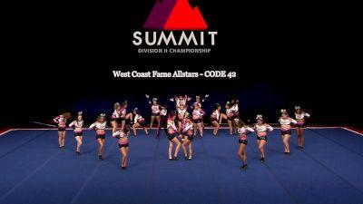 West Coast Fame Allstars - CODE 42 [2021 L4.2 Senior Coed - Medium Finals] 2021 The D2 Summit