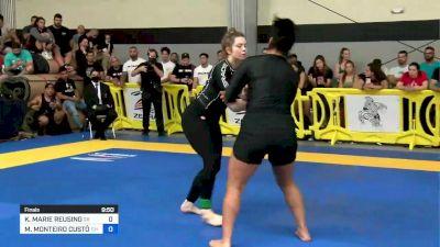 Kendall Reusing vs Mayara Monteiro 2021 Pan IBJJF Jiu-Jitsu No-Gi Championship Flozone