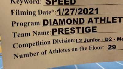 Diamond Athletics - Prestige [L2 Junior - D2 - Medium] 2021 Varsity All Star Winter Virtual Competition Series: Event I
