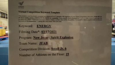 New Jersey Spirit Explosion - JFAB [L6 Junior - Small] 2021 Beast of The East Virtual Championship