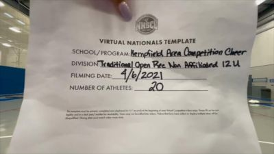 Hempfield Area Competition Cheer [Virtual Traditional Open Rec Non Affiliated 12 & Younger Semi Finals] 2021 UCA National High School Cheerleading Championship