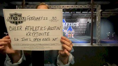 Cheer Athletics - Austin - Kryptonite [L6 International Open Coed - NT] 2021 NCA All-Star Virtual National Championship