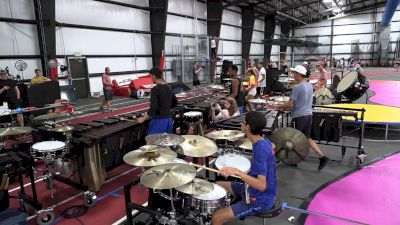 2021 Bluecoats Spring Training: Pit Feature Clip, Percussion Standstill Run