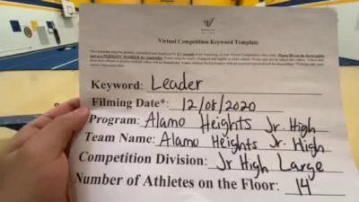 Alamo Heights JH School [Large Junior High] 2020 UCA Southwest Virtual Regional