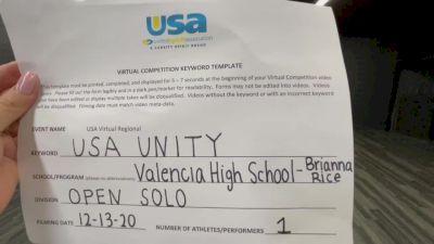 Valencia [Open - Solo] 2020USA Virtual Regional