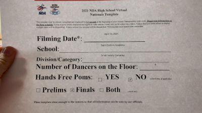 Saint Dominic Academy [Virtual Varsity - Game Day- Small Finals] 2021 NDA High School National Championship