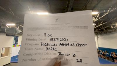 Platinum Athletics - IMPAC [L3 Junior - Medium] 2021 The Regional Summit Virtual Championships