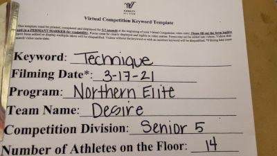Northern Elite All Stars - DESIRE [L5 Senior] 2021 Varsity All Star Winter Virtual Competition Series: Event IV