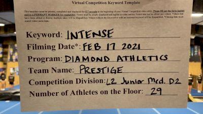 Diamond Athletics - Prestige [L2 Junior - D2 - Medium] 2021 Coastal at the Capitol Virtual National Championship
