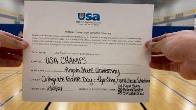Angelo State University [College -- Fight Song -- Cheer] 2021 USA Virtual West Coast Spirit Championships