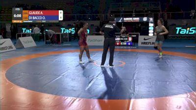 68 kg Alexandria Junis GLAUDE, USA vs Olivia Grace DI BACCO, CAN