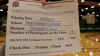 Manhattan College [Virtual Division I - Jazz Finals] 2021 NCA & NDA Collegiate Cheer & Dance Championship