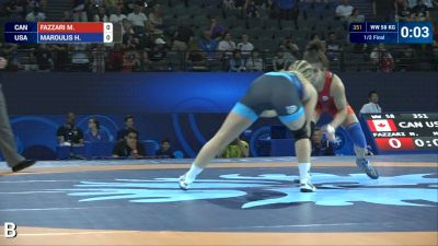 58 kg semifinal Helen MAROULIS (USA) df. M. FAZZARI (CAN) by VSU, 10-0
