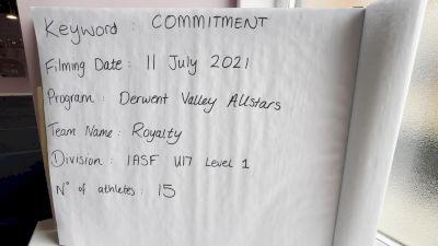 Derwent Valley Allstars - Royalty [L1 - U17] 2021 Virtual JAMfest Europe