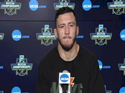 Michael Kemerer (Iowa) after 174-pound semifinal win at 2021 NCAA Championships