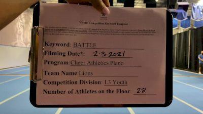 Cheer Athletics Plano - Lions [L3 Youth - Medium] 2021MG Extravaganza Virtual Nationals