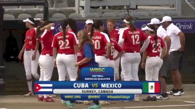 Cuba vs Mexico | 2019 WBSC Softball Americas Olympic Qualifier