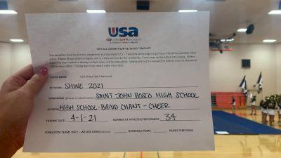 Saint John Bosco High School [High School -- Band Chant -- Cheer] 2021 USA Spirit & Dance Virtual National Championships