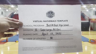Bullitt East High School [Super Varsity Virtual Finals] 2021 UCA National High School Cheerleading Championship