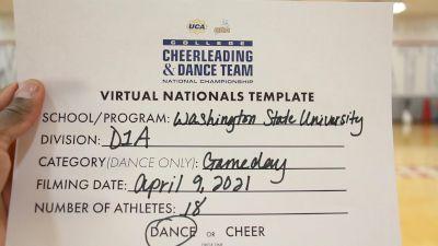 Washington State University [Virtual Division IA Dance Game Day Semi Finals] 2021 UCA & UDA College Cheerleading & Dance Team National Championship