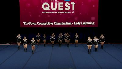 Tri-Town Competitive Cheerleading - Lady Lightning [2021 L3 Performance Rec - 18Y (NON) - Large Finals] 2021 The Quest