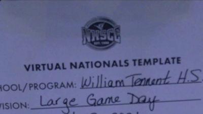 William Tennent High School [Large Varsity Game Day Virtual Finals] 2021 UCA National High School Cheerleading Championship
