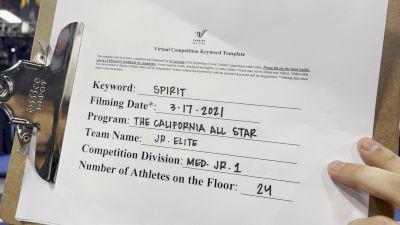 The California All Stars - Las Vegas - Jr. EL1TE [L1 Junior - Medium] 2021 PacWest Virtual Championship