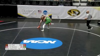 174 R16 Demetrius Romero, Utah Valley vs Dustin Plott, Oklahoma State