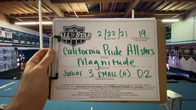 California Pride - Magnitude [L3 Junior - D2 - Small - A] 2021 NCA All-Star Virtual National Championship
