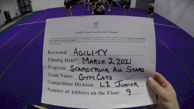 Starstruck All Star - GymCats [L1 Junior - D2 - Small - A] 2021 Varsity All Star Winter Virtual Competition Series: Event III