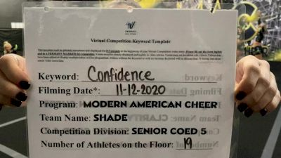 Modern American Cheer - Shade [L5 Senior Coed] Varsity All Star Virtual Competition Series: Event IV