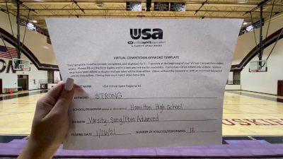 Hamilton High School [Varsity - Song/Pom - Advanced] 2021 USA Virtual Spirit Regional #1