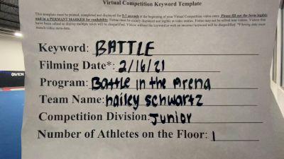 Elite Cheer - Hailey_Schwartz - Finals [Junior Athlete] 2021 Battle In The Arena