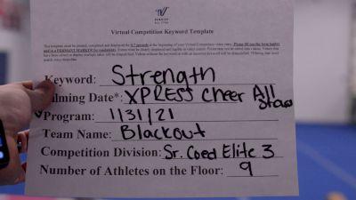 Xpress Cheer Allstars - Blackout [L3 Senior Coed - D2] 2021 Varsity All Star Winter Virtual Competition Series: Event II