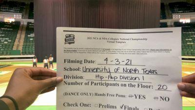University of North Texas [Hip Hop Division I Virtual Finals] 2021 NCA & NDA Collegiate Cheer & Dance Championship