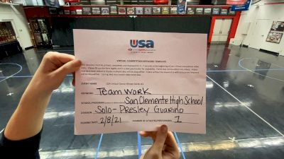 San Clemente High School [Open - Solo] 2021USA Virtual Dance Winter Series #1