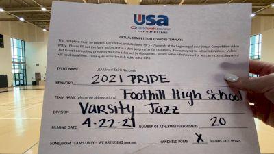 Foothill High School - North Tustin [Varsity - Jazz Finals] 2021 USA Spirit & Dance Virtual National Championships