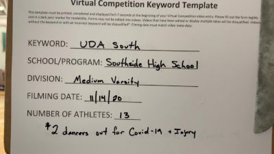 Southside High School [Medium Varsity Jazz] 2020 UDA South Virtual Dance Challenge